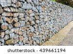 wire gabion rock fence. metal... | Shutterstock . vector #439661194