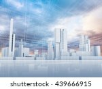 abstract contemporary city... | Shutterstock . vector #439666915