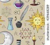 alchemy symbols pattern. set of ... | Shutterstock .eps vector #439668289