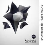abstract triangles space low... | Shutterstock .eps vector #439670149