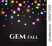 falling multicolor gems vector... | Shutterstock .eps vector #439671529