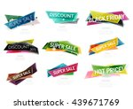 set of colorful geometric shape ... | Shutterstock . vector #439671769