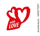 vector logo heart | Shutterstock .eps vector #439677097