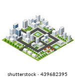 flat isometric map  landscape...
