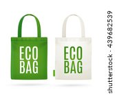 eco fabric cloth bag tote... | Shutterstock .eps vector #439682539