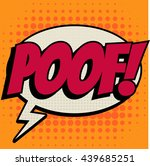 poof comic book bubble text... | Shutterstock .eps vector #439685251
