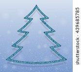 falling snow vector. white...   Shutterstock .eps vector #439685785