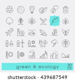 set of line ecology icons. | Shutterstock .eps vector #439687549