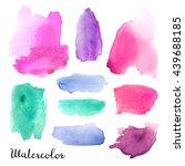 set of watercolor blots...   Shutterstock . vector #439688185
