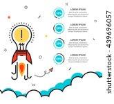 flat thin line illustration... | Shutterstock .eps vector #439696057