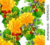 abstract elegance seamless... | Shutterstock . vector #439696141