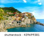 colorful traditional houses on... | Shutterstock . vector #439699381