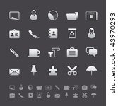 gray deluxe icon sets   office...