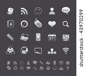 gray deluxe icon sets   social... | Shutterstock .eps vector #43970299