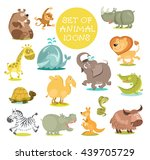 collection of cute cartoon... | Shutterstock .eps vector #439705729