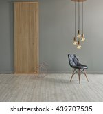 modern grey wall lamp interior... | Shutterstock . vector #439707535