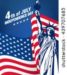fourth of july independence day | Shutterstock .eps vector #439707685