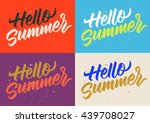 summer calligraphy  handwritten ... | Shutterstock .eps vector #439708027