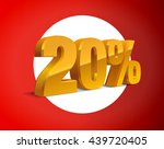 20  percent off  sale white... | Shutterstock .eps vector #439720405