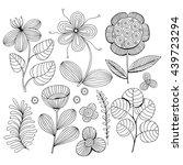 beautiful monochrome flowers... | Shutterstock .eps vector #439723294