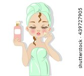 woman with beauty product | Shutterstock .eps vector #439727905