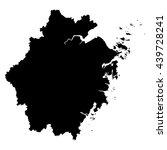 zhejiang black map on white... | Shutterstock .eps vector #439728241