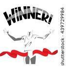 winner concept vector... | Shutterstock .eps vector #439729984