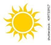 vector sun icon | Shutterstock .eps vector #439733917