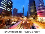 panoramic view of a street... | Shutterstock . vector #439737094