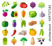 vegetarian food icon set with... | Shutterstock .eps vector #439737181