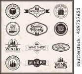 set of logos for its wine... | Shutterstock .eps vector #439737631