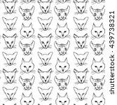 seamless pattern  cat breeds... | Shutterstock .eps vector #439738321