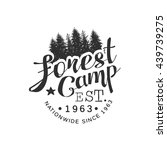 nationwide forest camp vintage... | Shutterstock .eps vector #439739275