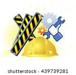 maintenance mode icon with hand ... | Shutterstock .eps vector #439739281