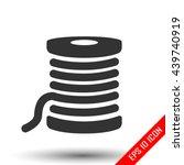 thread icon. simple flat logo... | Shutterstock .eps vector #439740919