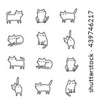 funny hand drawn cats. animals... | Shutterstock .eps vector #439746217