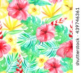 seamless pattern with... | Shutterstock . vector #439746361