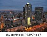 urban landscape at dusk. warsaw ... | Shutterstock . vector #43974667