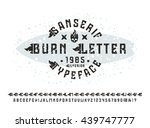 sanserif font with flame... | Shutterstock .eps vector #439747777