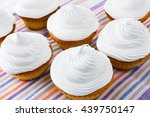 White Cupcakes On The Linen...