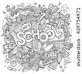 cartoon cute doodles hand drawn ... | Shutterstock .eps vector #439754971