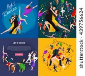dancing people young man and... | Shutterstock .eps vector #439756624