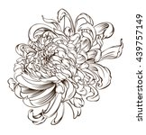 japanese flower tattoo... | Shutterstock .eps vector #439757149