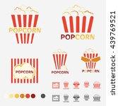 popcorn logo set   vector | Shutterstock .eps vector #439769521