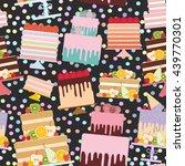 seamless pattern birthday ...   Shutterstock .eps vector #439770301