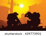 soldier with medics | Shutterstock .eps vector #439773901