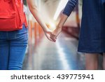 woman and her girlfriend hold... | Shutterstock . vector #439775941
