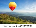 colorful hot air balloon over...   Shutterstock . vector #439776751