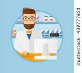 a hipster pharmacist with the... | Shutterstock .eps vector #439777621
