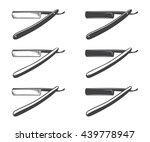 straight razor vector isolated...   Shutterstock .eps vector #439778947